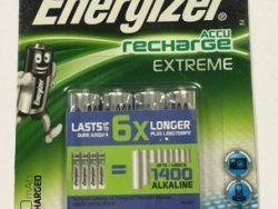 4x AKUMULATORKI baterie ENERGIZER R6 AAA 800 mAh