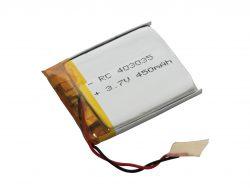 AKUMULATOR PRYZMATYCZNY Li-POLy 3,7V 450mAh 403035 EE7078